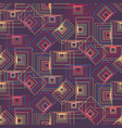 purple matrix pattern with yellow and pink squares vector image vector image