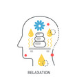 relaxation concept vector image vector image