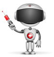 robot doctor vector image vector image