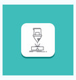 round button for cutting engineering fabrication vector image vector image