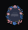 round floral text border hand drawn layout vector image vector image