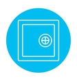 Safe line icon vector image