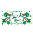 saint patricks day greeting card vector image