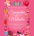 save date wedding ceremony invitation love vector image vector image