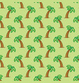 seamless pattern tropical palm tree on green vector image vector image