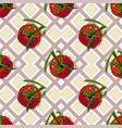 Seamless pattern with red ripe tomatoes