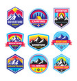 set adventure outdoor concept badges vector image vector image