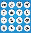 set of 16 editable healthy icons includes symbols vector image vector image