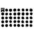 set of black circles black spots on white vector image vector image