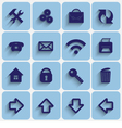 Set of Light Blue Flat Style Square Buttons vector image vector image
