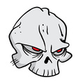 skull 1 vector image vector image