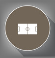 soccer field white icon on brown circle vector image vector image
