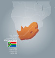 south africa information map vector image