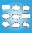 speech bubble dialog talk tag communication vector image vector image