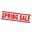 square grunge red spring sale stamp vector image vector image