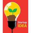 Startup idea vector image vector image