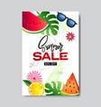 summer sale fresh fruits lettering badge design vector image vector image