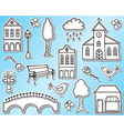 Town or city design elements vector image vector image