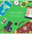 travel planning poster text vector image vector image