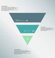 Triangle template consists of three color parts on vector image vector image