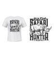 tshirt print with rhino sketch rhinoceros vector image vector image