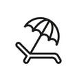 umbrella recliner icon on white background vector image