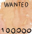 vintage poster of wanted criminals for a fee vector image vector image