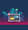 web payment icon in flat style the internet store vector image vector image