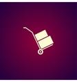 wheelbarrow for transportation of cargo web icon vector image vector image