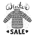 Winter Special banner label with knitted woolen vector image vector image