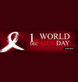 world aids day 1st december world aids day vector image