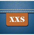 XXS size clothing label - vector image vector image