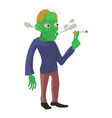 zombie smokes icon cartoon style vector image vector image