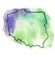 Poland watercolor map vector image