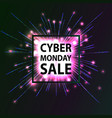 cyber monday hot sale vector image