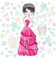 beautiful fashion girl princess vector image