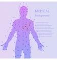 Medical background Human anatomy vector image