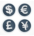 Set of money symbols vector image