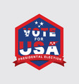 2020 united stated presidential election vote logo vector image vector image