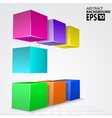3D Colorful Cube Arc Abstract Background vector image vector image