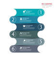 abstract element infographics 6 option design