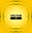 Abstract frame with yellow layers vector image vector image