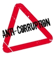 Anti-Corruption rubber stamp vector image