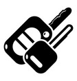 auto key icon simple black style vector image vector image