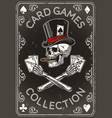 back playing card vintage poster vector image vector image