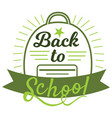 back to school badge cool trendy school logo vector image