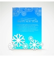 Background with snowflakes and place for text vector image vector image