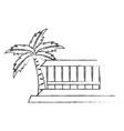 beach cabin isolated vector image
