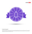 bell icon - purple ribbon banner vector image vector image