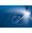Blue glow abstract vector image vector image